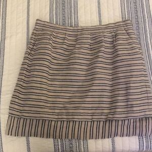 LOFT stripes linen skirt